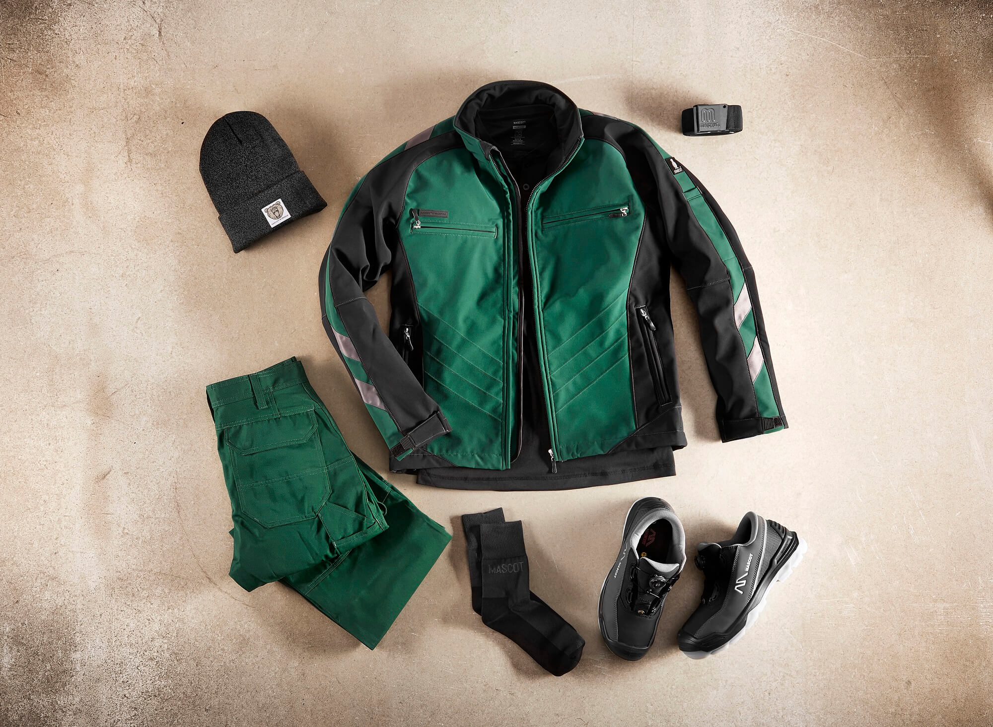 Collage - Giacca Softshell, Pantaloni & Accessori - Verde